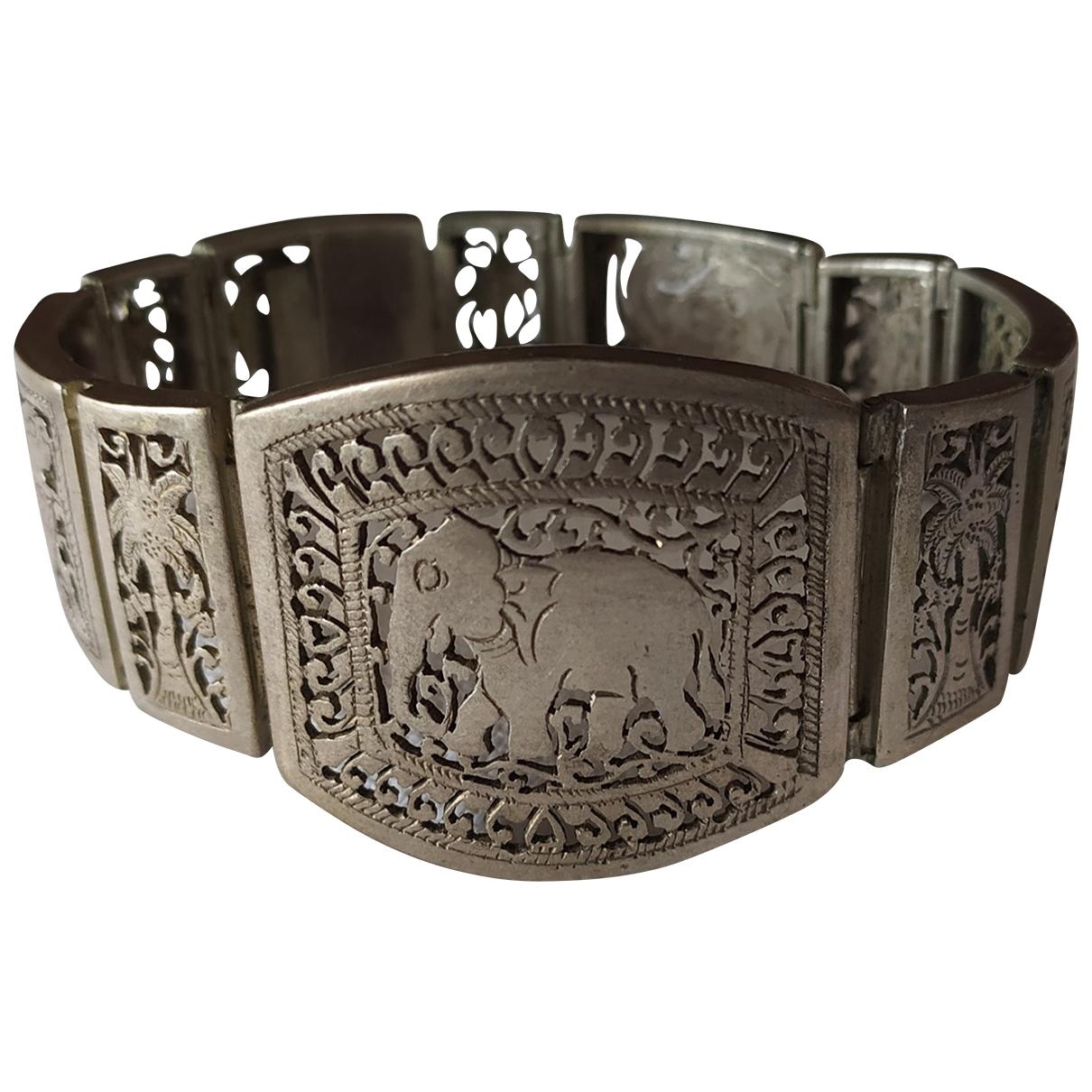 - Bracelet Motifs Ethniques pour femme en metal - argente