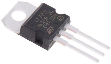 STMicroelectronics LF33CV, LDO Regulator, 500mA, 3.3 V, ±2% 3-Pin, TO-220