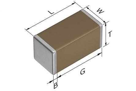 TDK 1206 (3216M) 1μF Multilayer Ceramic Capacitor MLCC 50V dc ±10% SMD CGA5L3X7R1H105K160AE (50)