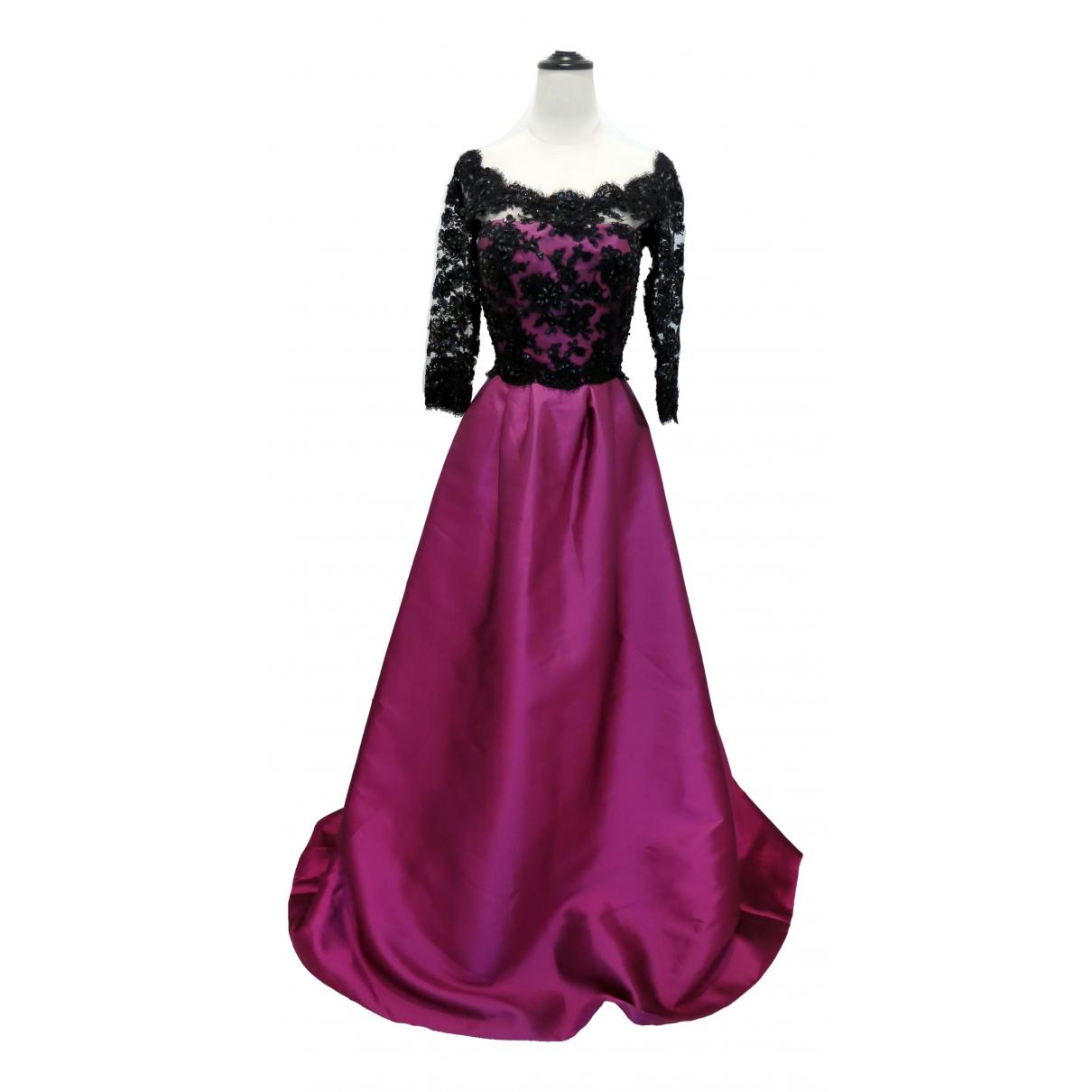 Reem Acra \N Kleid in  Lila Seide