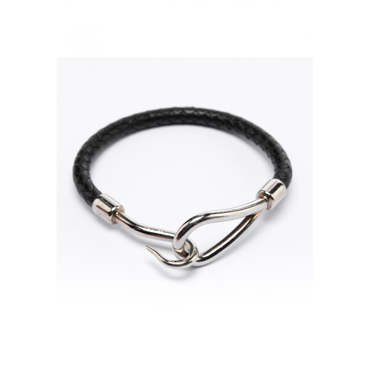 Hermes - Bracelet Jumbo pour femme en cuir - noir