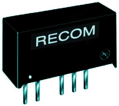 Recom RB 1W Isolated DC-DC Converter Through Hole, Voltage in 4.5 → 5.5 V dc, Voltage out 12V dc