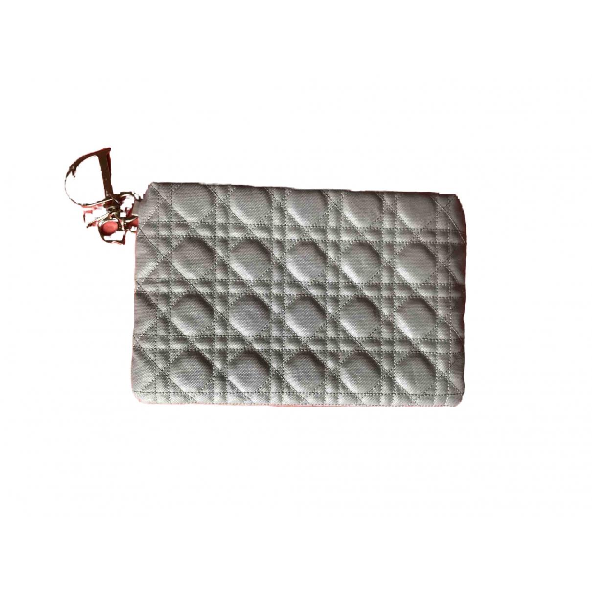 Dior Dior Panarea Clutch in  Grau Leinen