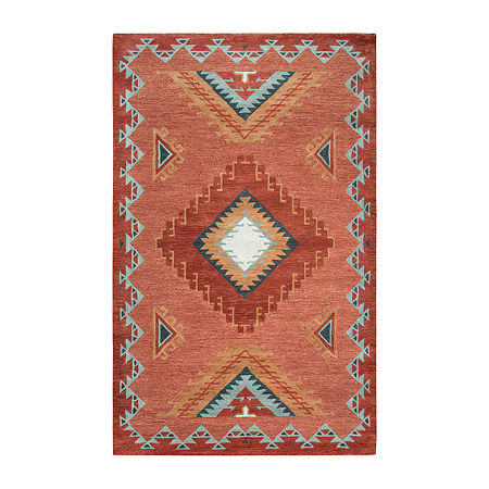 Rizzy Home Mesa Collection Dynasty Hand-Tufted Diamond Area Rug, One Size , Brown