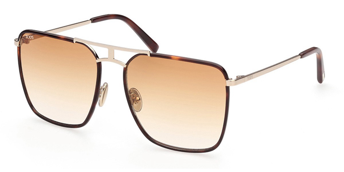 TODS TO0293 53F Women's Sunglasses Tortoise Size 58