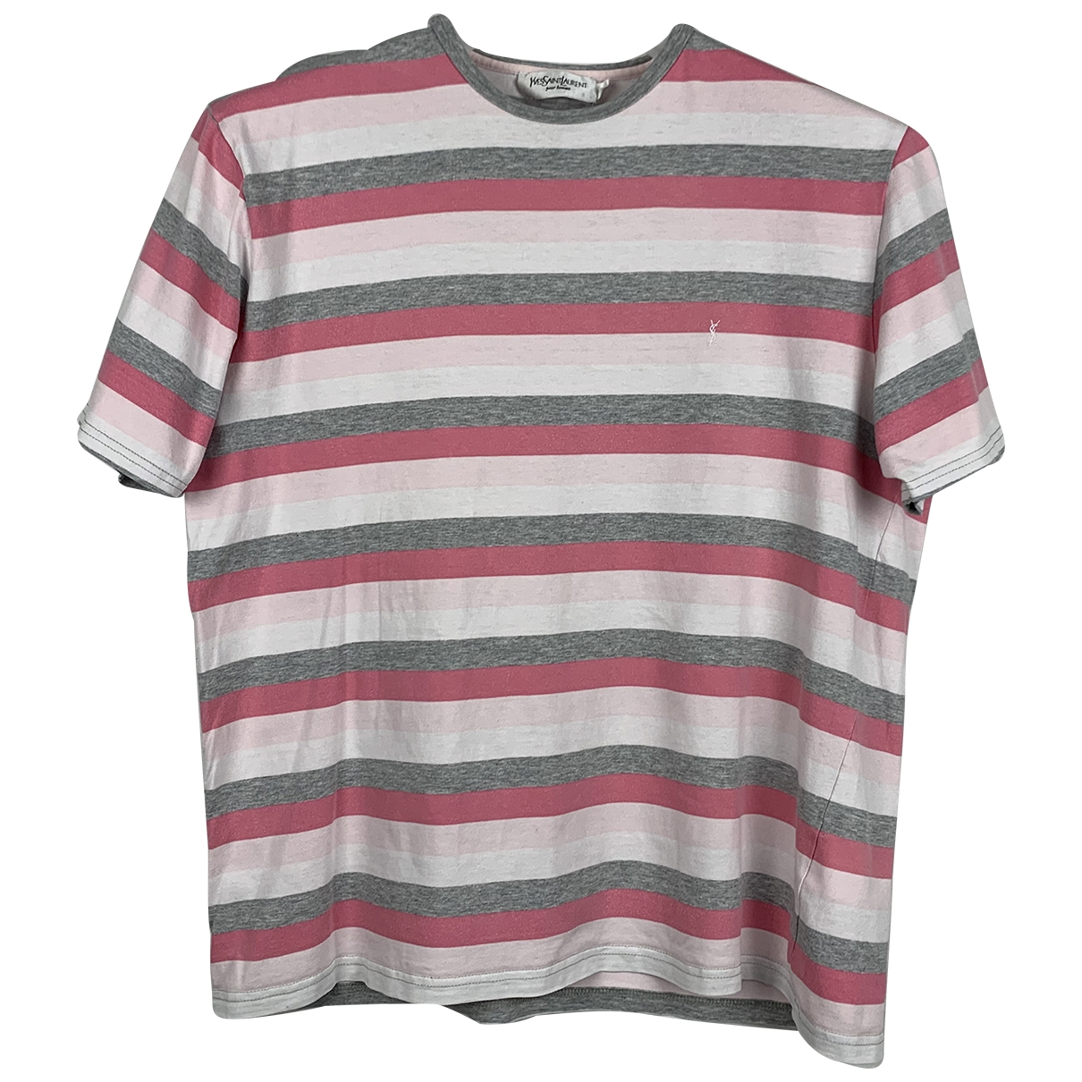 Yves Saint Laurent \N Pink Cotton T-shirts for Men S International