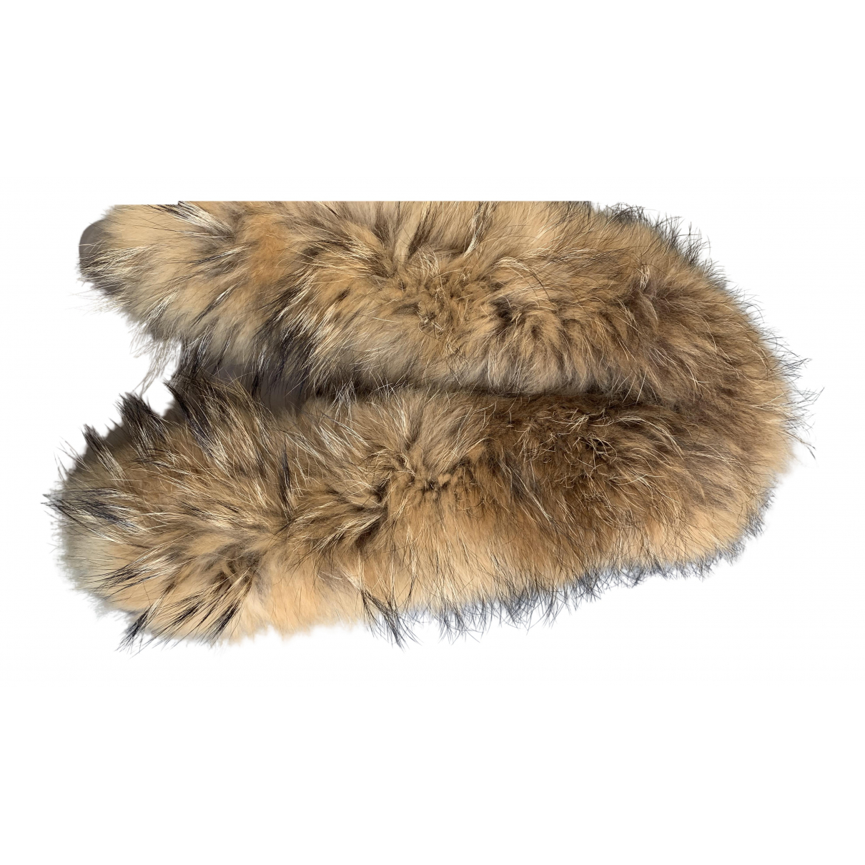 Non Signé / Unsigned \N Beige Raccoon scarf for Women \N