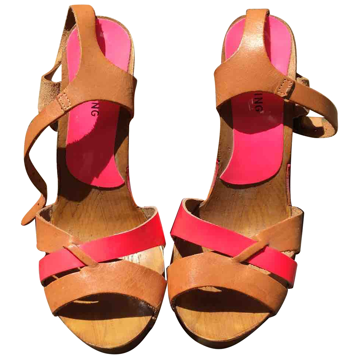 Non Signé / Unsigned \N Multicolour Leather Sandals for Women 5 UK