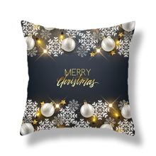 1pc Christmas Pattern Cushion Cover Without Filler