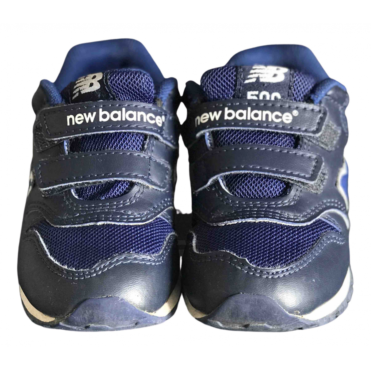 New Balance - Baskets   pour enfant en cuir - bleu