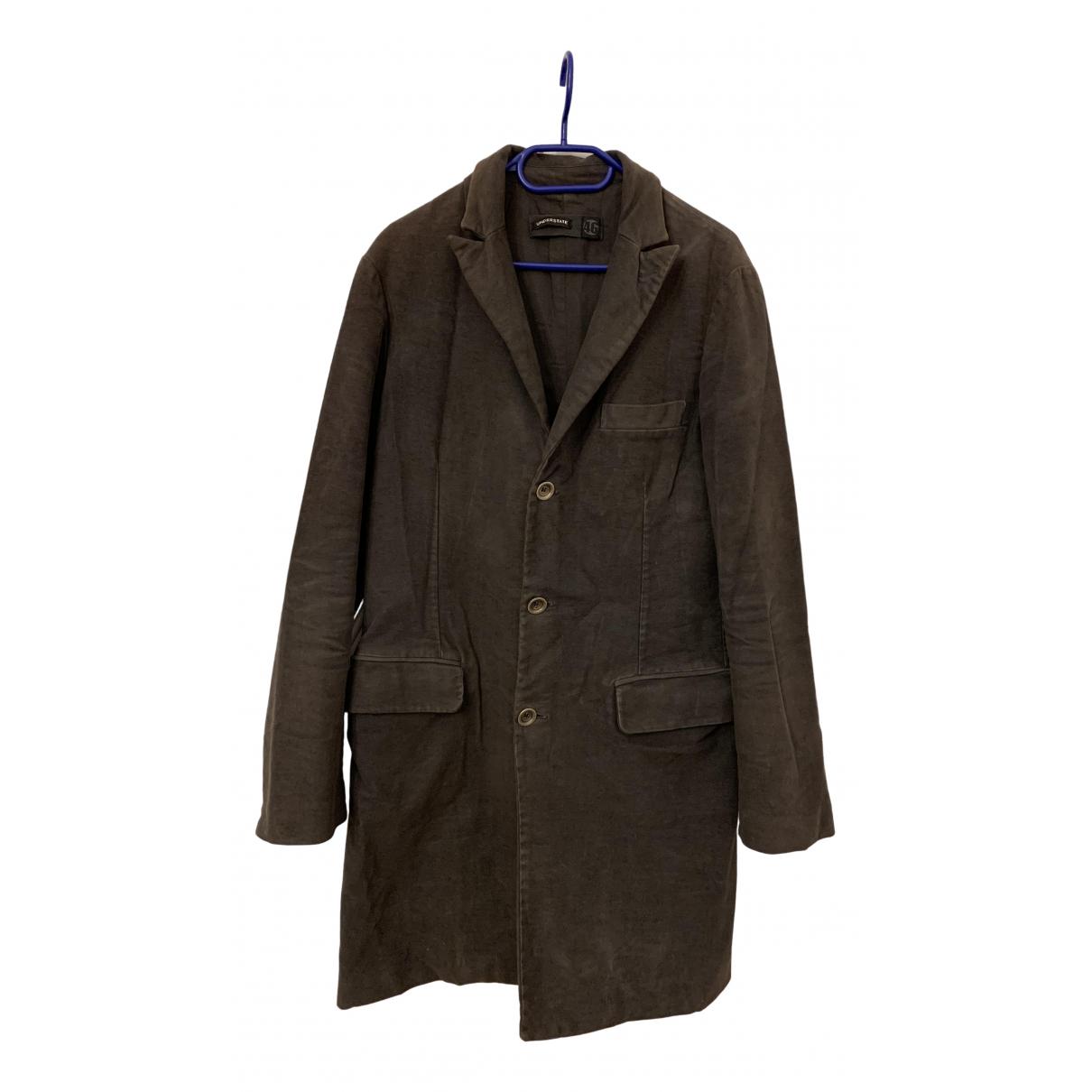 - Manteau   pour homme en coton - anthracite