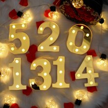 1pc Number Shaped Night Light