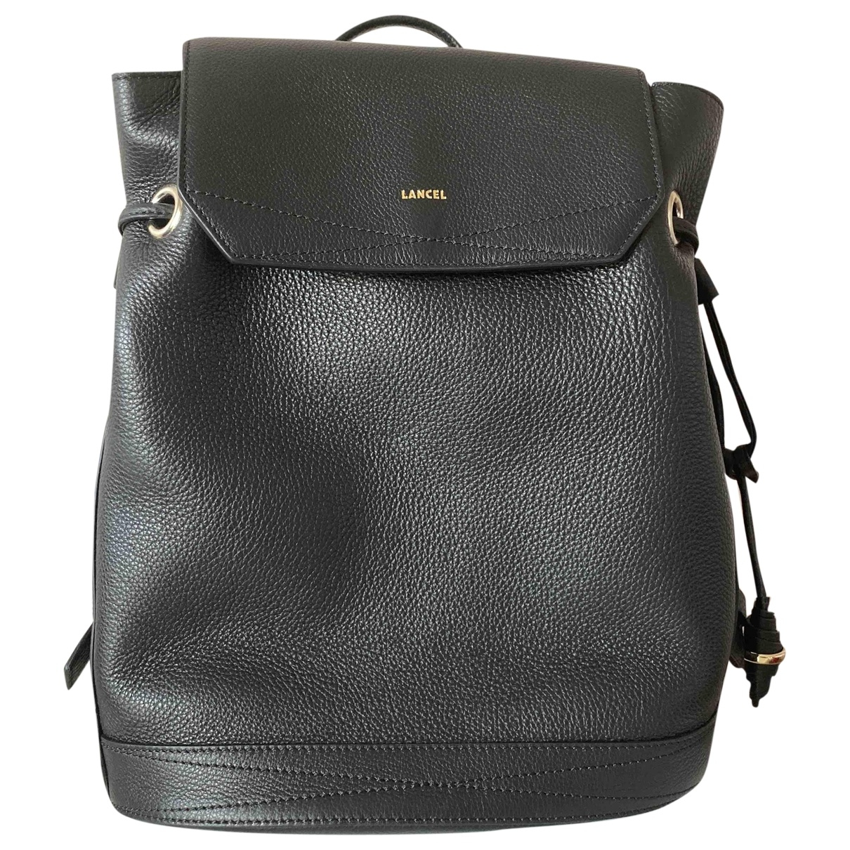 Lancel Huit Black Leather backpack for Women \N