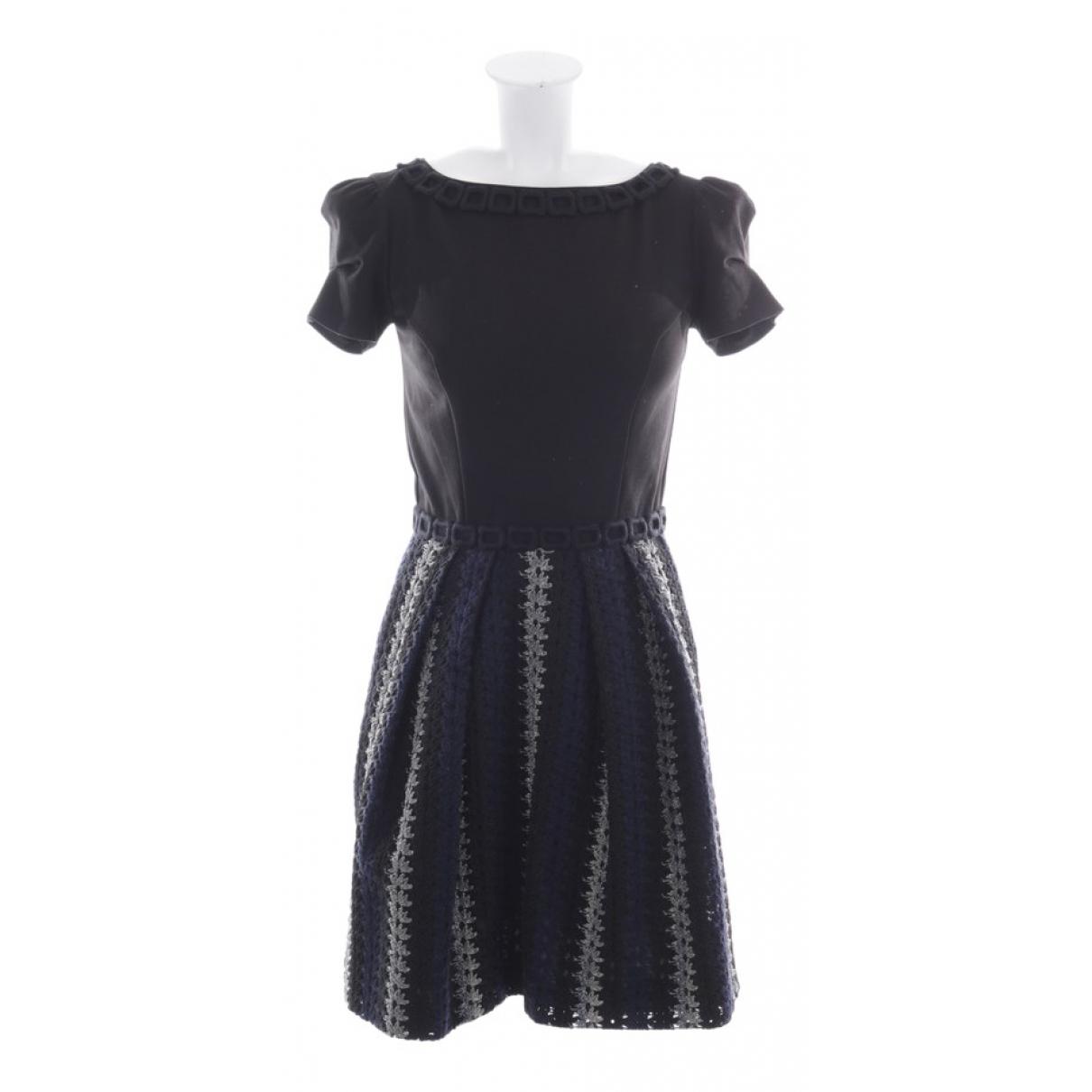 Blumarine \N Kleid in  Schwarz Viskose
