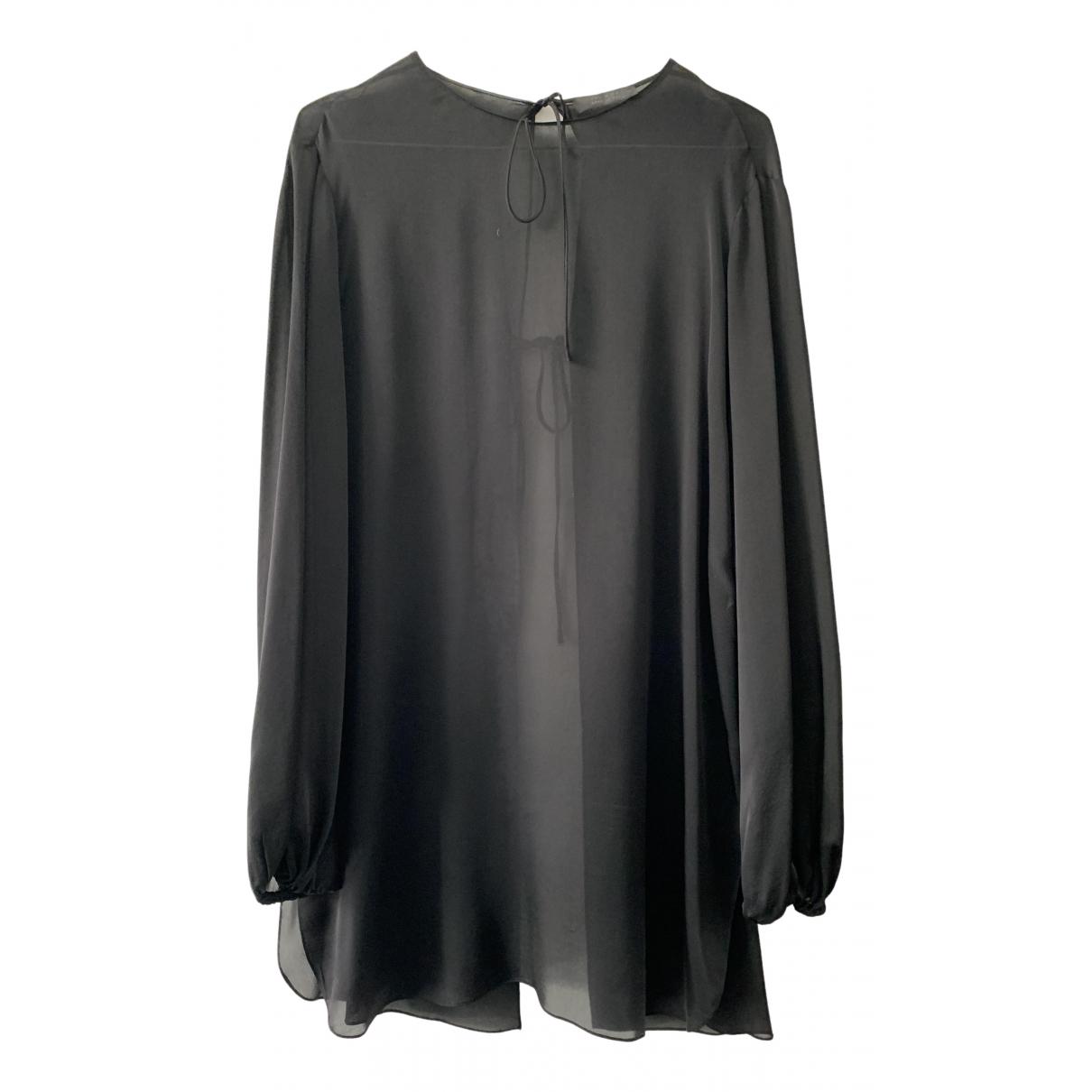 The Row - Top   pour femme en soie - noir