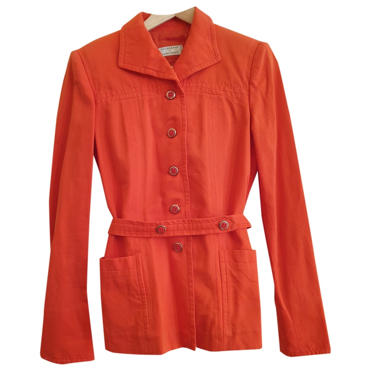 Philosophy Di Alberta Ferretti - Veste   pour femme en coton - orange