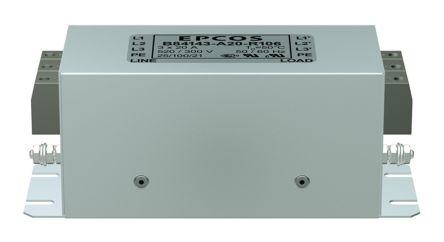 EPCOS , B84143A*R106 35A 520 V ac 50 → 60Hz, Flange Mount RFI Filter, Screw 3 Phase