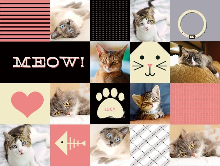 Pets Fleece Baby Blanket, 30x40, Gift -Cat Collage