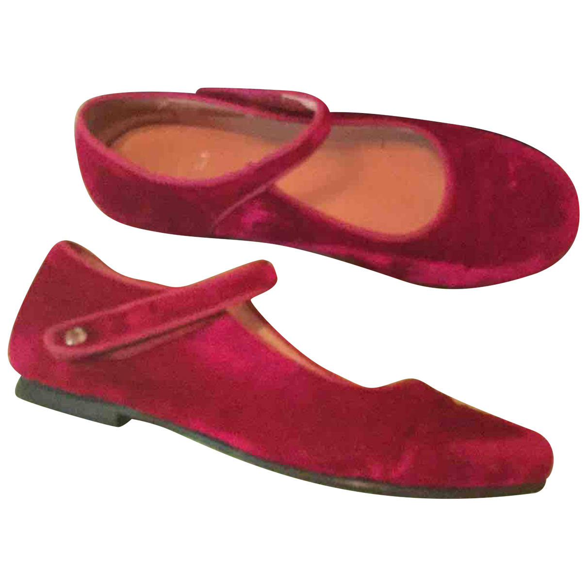 Jacadi - Ballerines   pour enfant en velours - rose