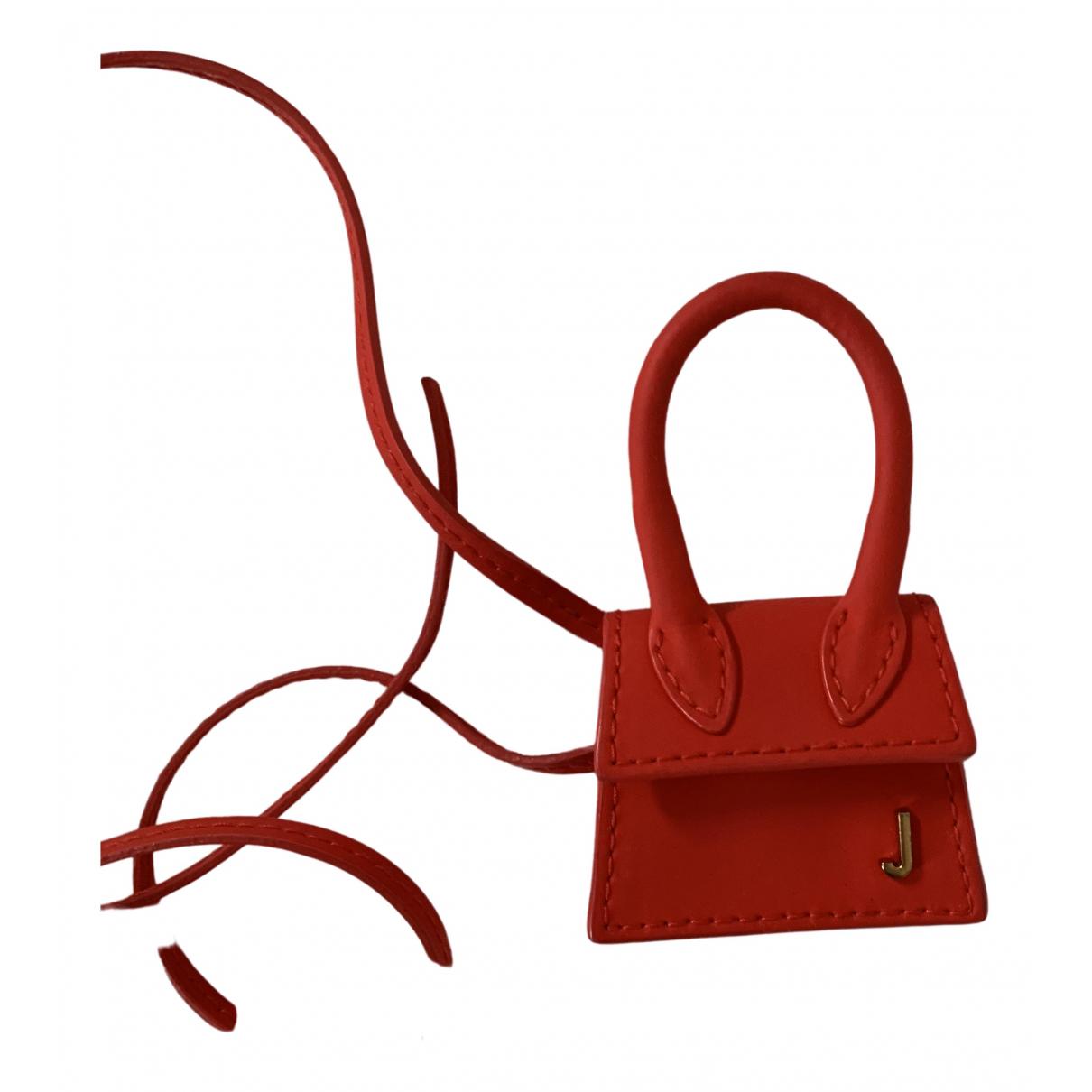 Jacquemus Le Petit Chiquito Handtasche in  Rot Leder