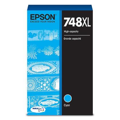 Epson 748XL T748XL220 cartouche d'encre originale cyan haute capacité