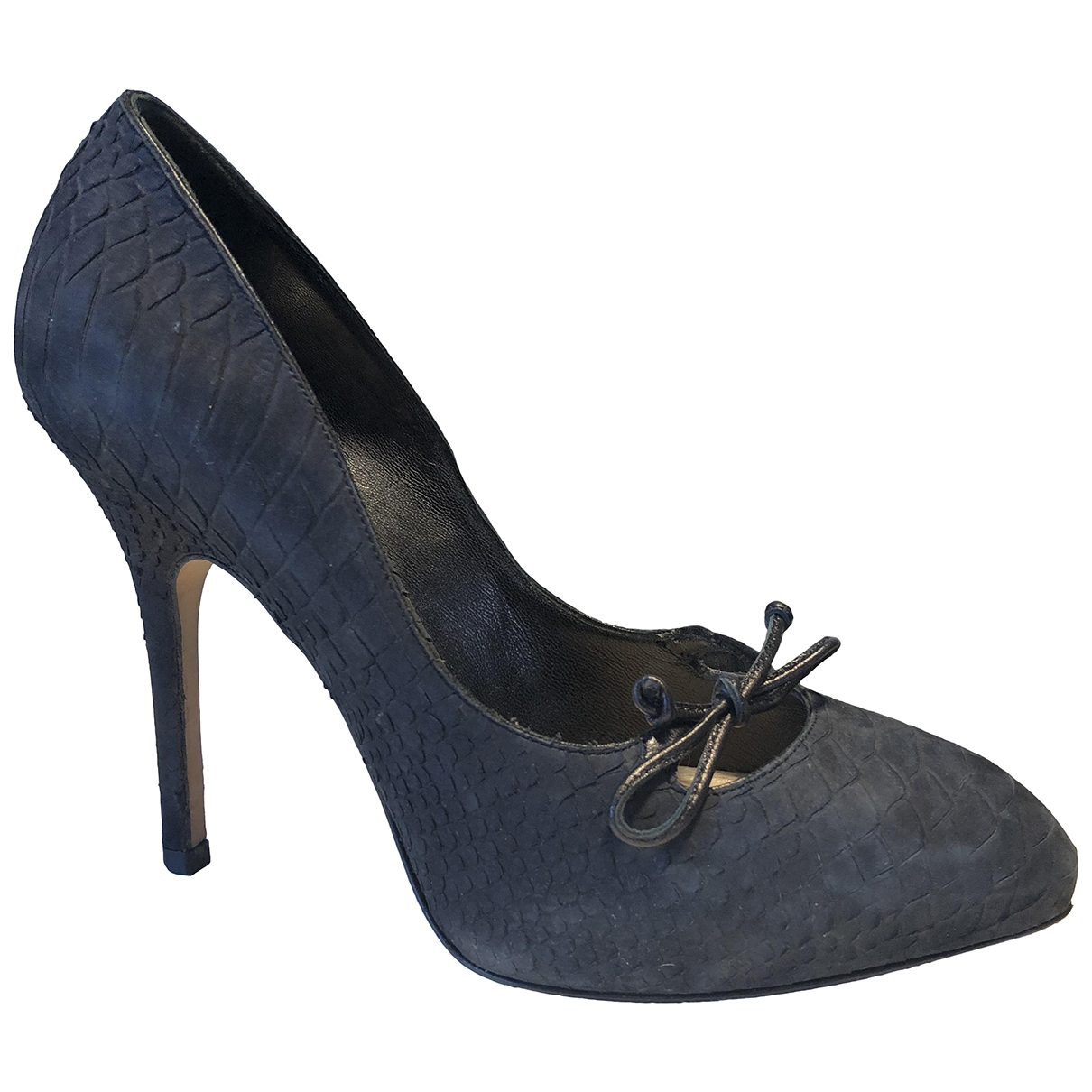 Dior \N Black Python Heels for Women 35.5 EU