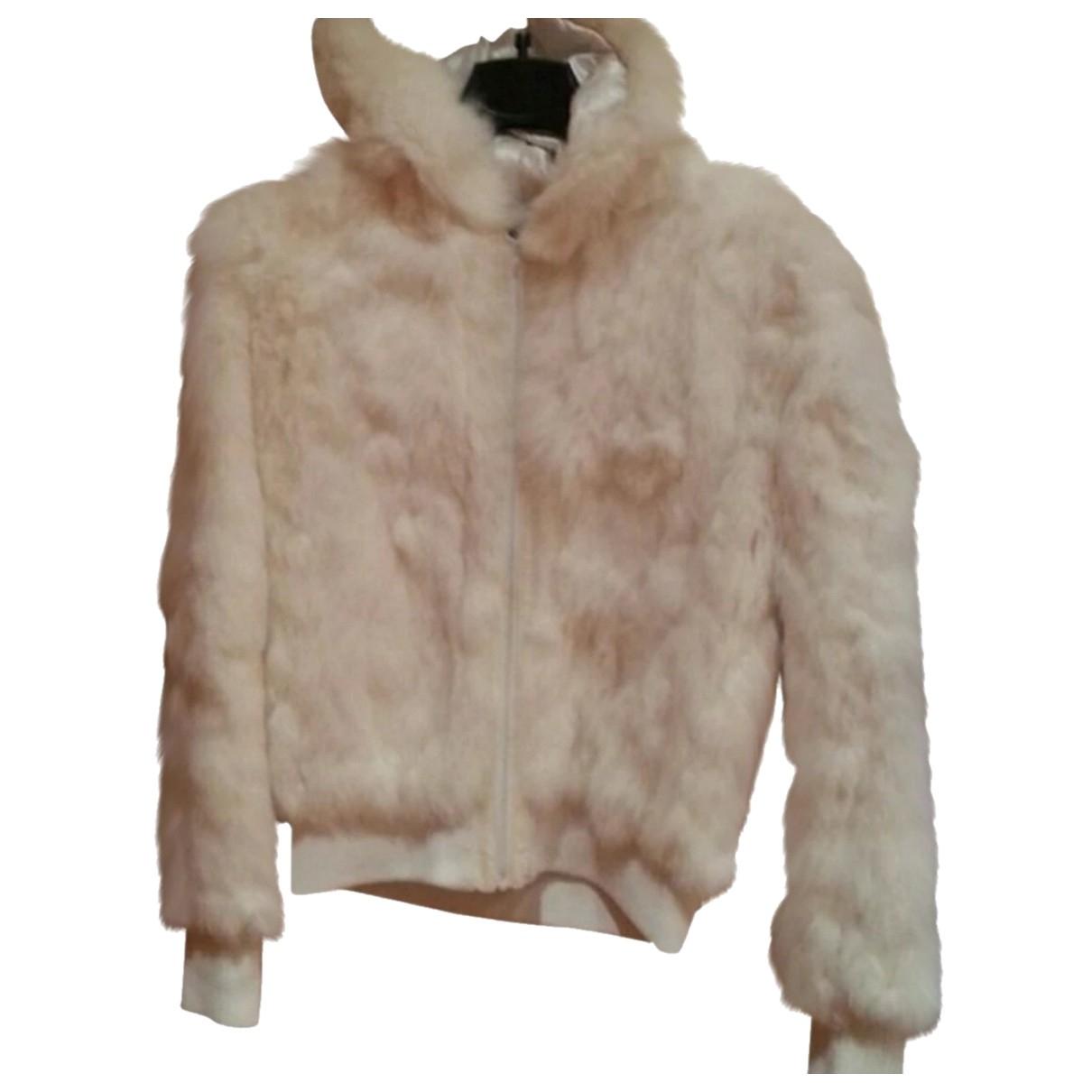 - Veste   pour femme en lapin - blanc