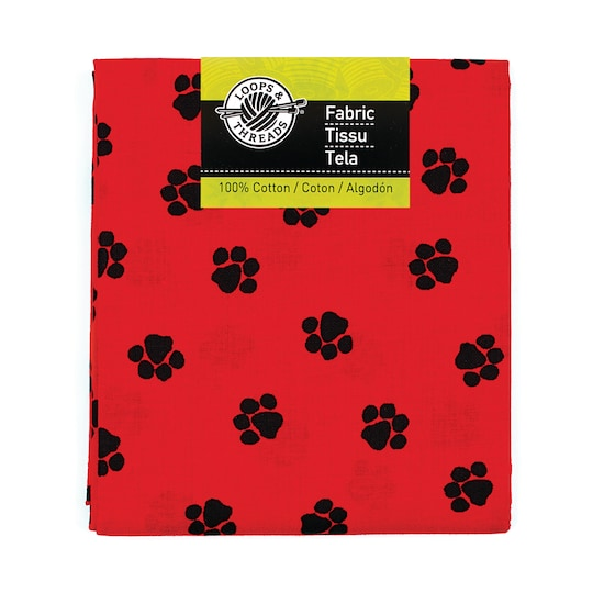 Paw Print Fabric By Loops & Threads® | Michaels®