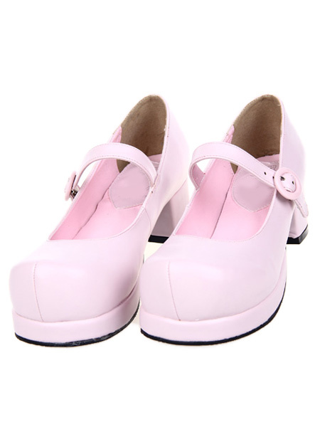 Milanoo Zapatos Lolita Tacon Cuadrado Gruesos Tirantes