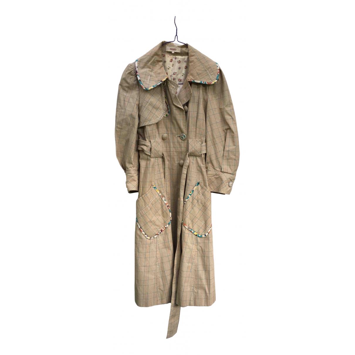 Kenzo - Manteau   pour femme en coton - multicolore
