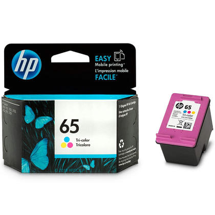 HP 65 N9K01AN Original Tri-Color Ink Cartridge