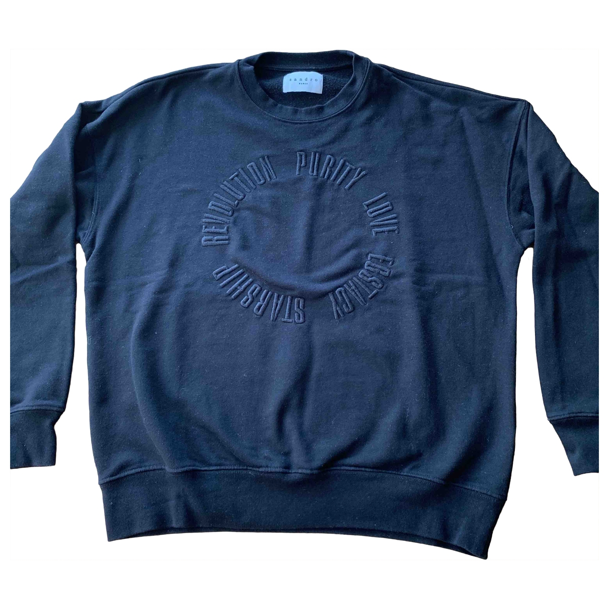 Sandro \N Black Cotton Knitwear & Sweatshirts for Men L International