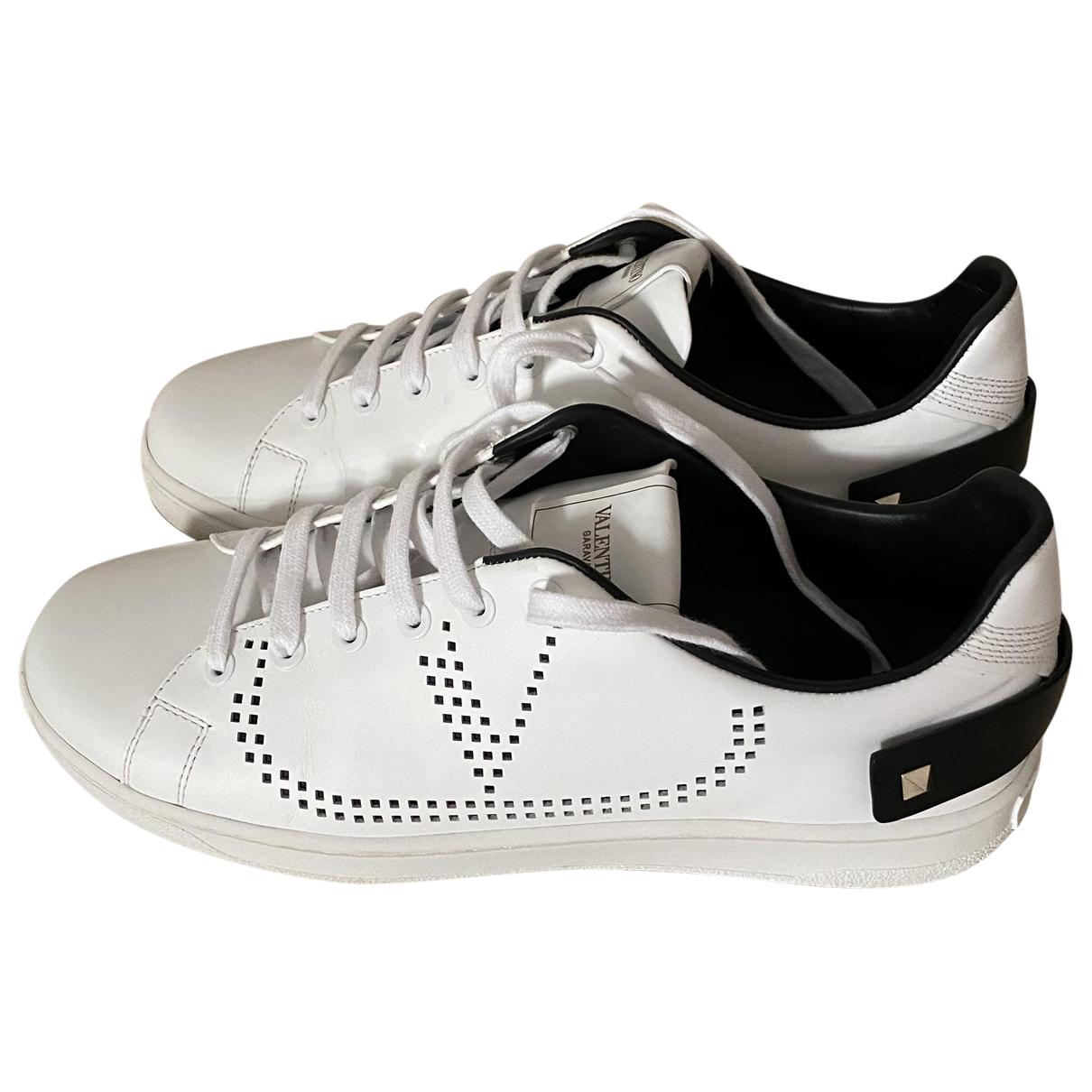 Valentino Garavani - Baskets   pour femme en cuir - blanc