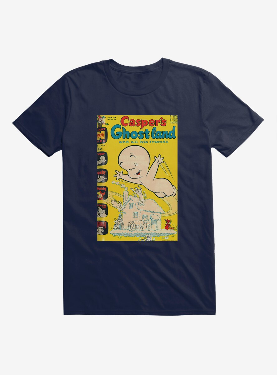 Casper The Friendly Ghost Ghostland And Friends Ghost House T-Shirt