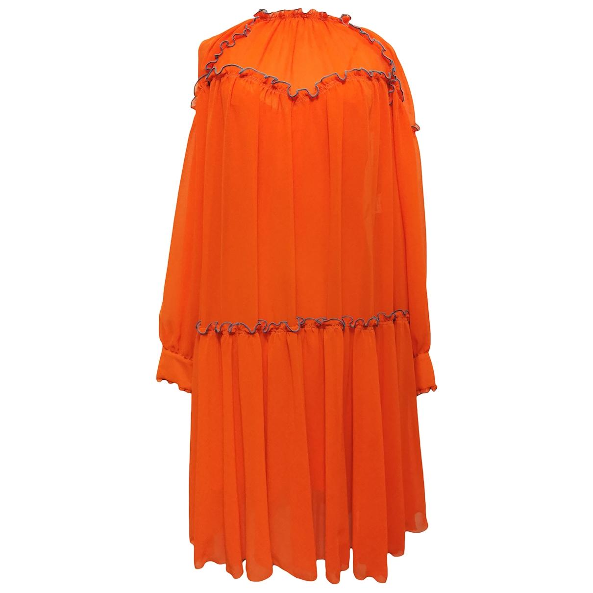 Msgm \N Kleid in  Orange Polyester