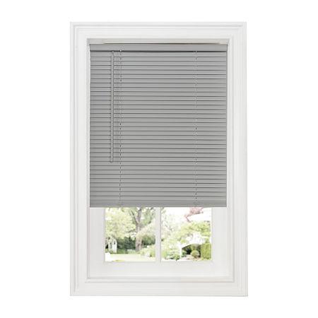 Cordless Deluxe Sundown GII 1in Horizontal Mini Blinds, One Size , Gray