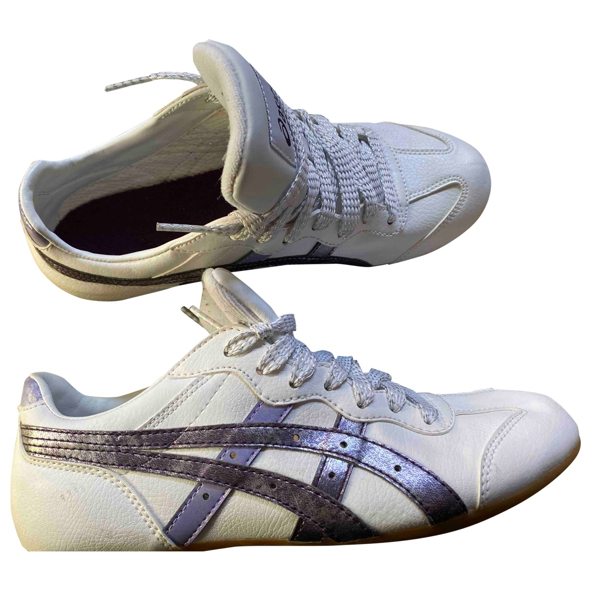 Asics - Baskets   pour femme en cuir - blanc