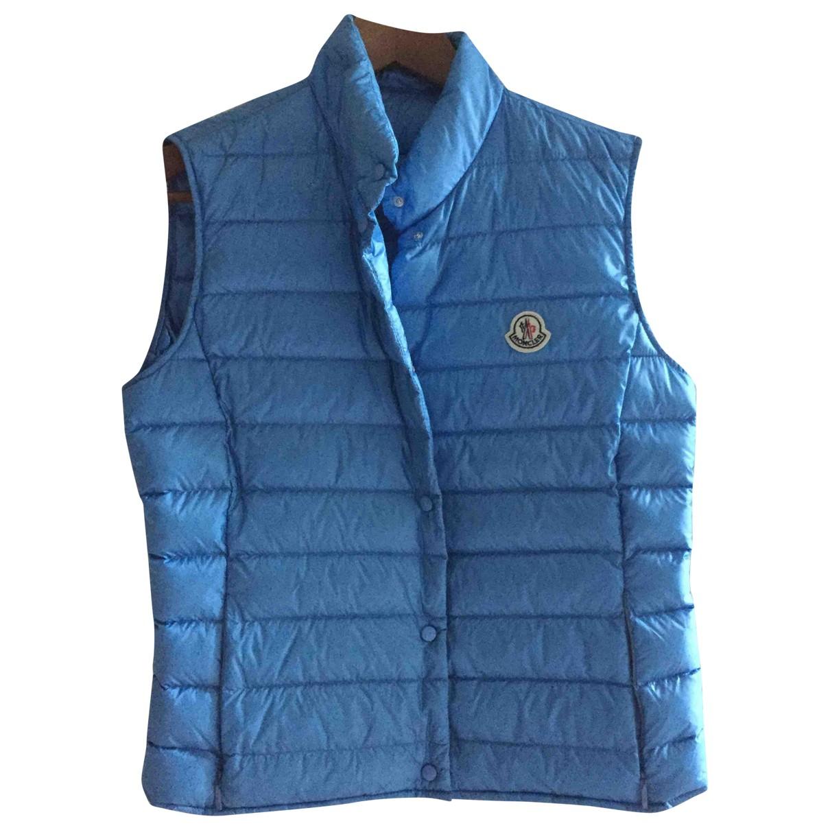 Moncler Sleeveless Blue coat for Women 3 0-5