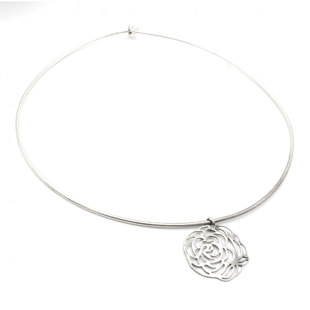 Chanel Camélia Silver Silver necklace for Women \N