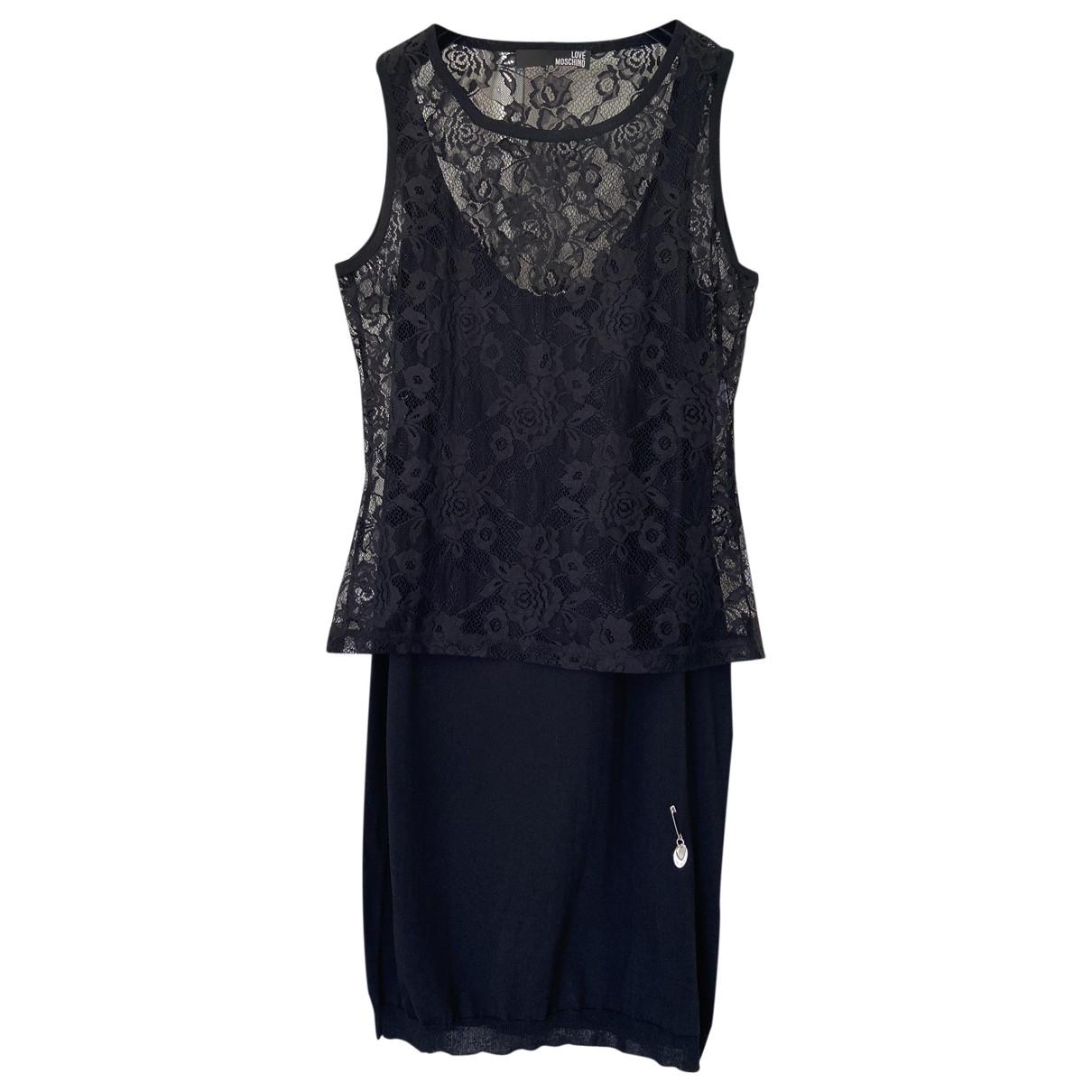 Moschino Love \N Kleid in  Schwarz Spitze