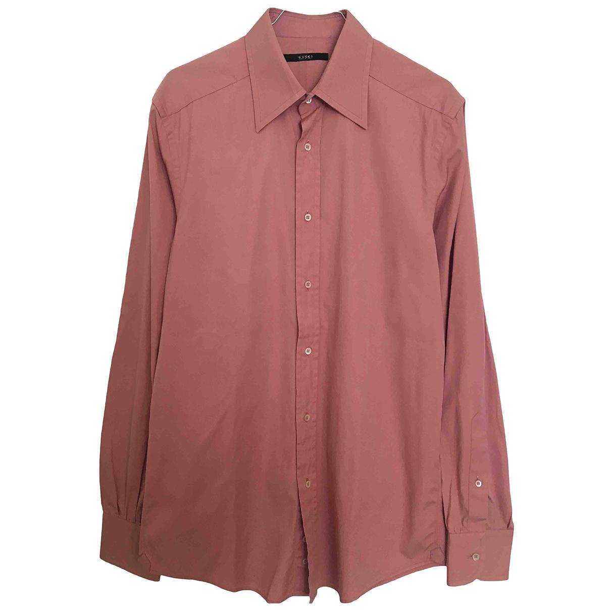 Gucci \N Hemden in  Rosa Baumwolle