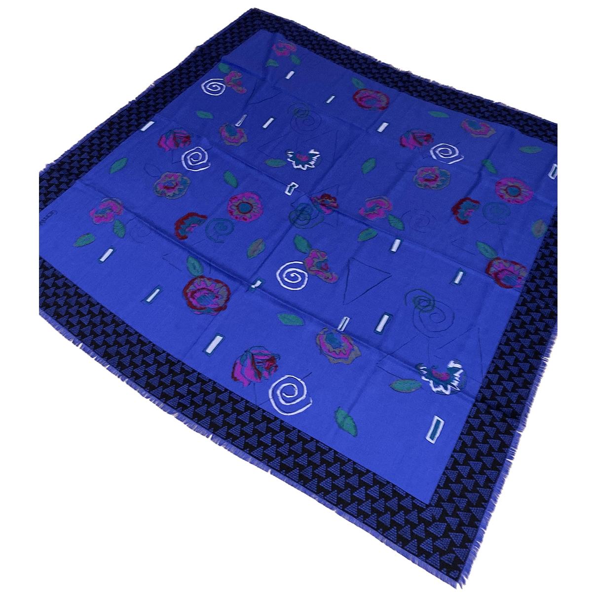 Gianni Versace \N Blue Wool scarf for Women \N