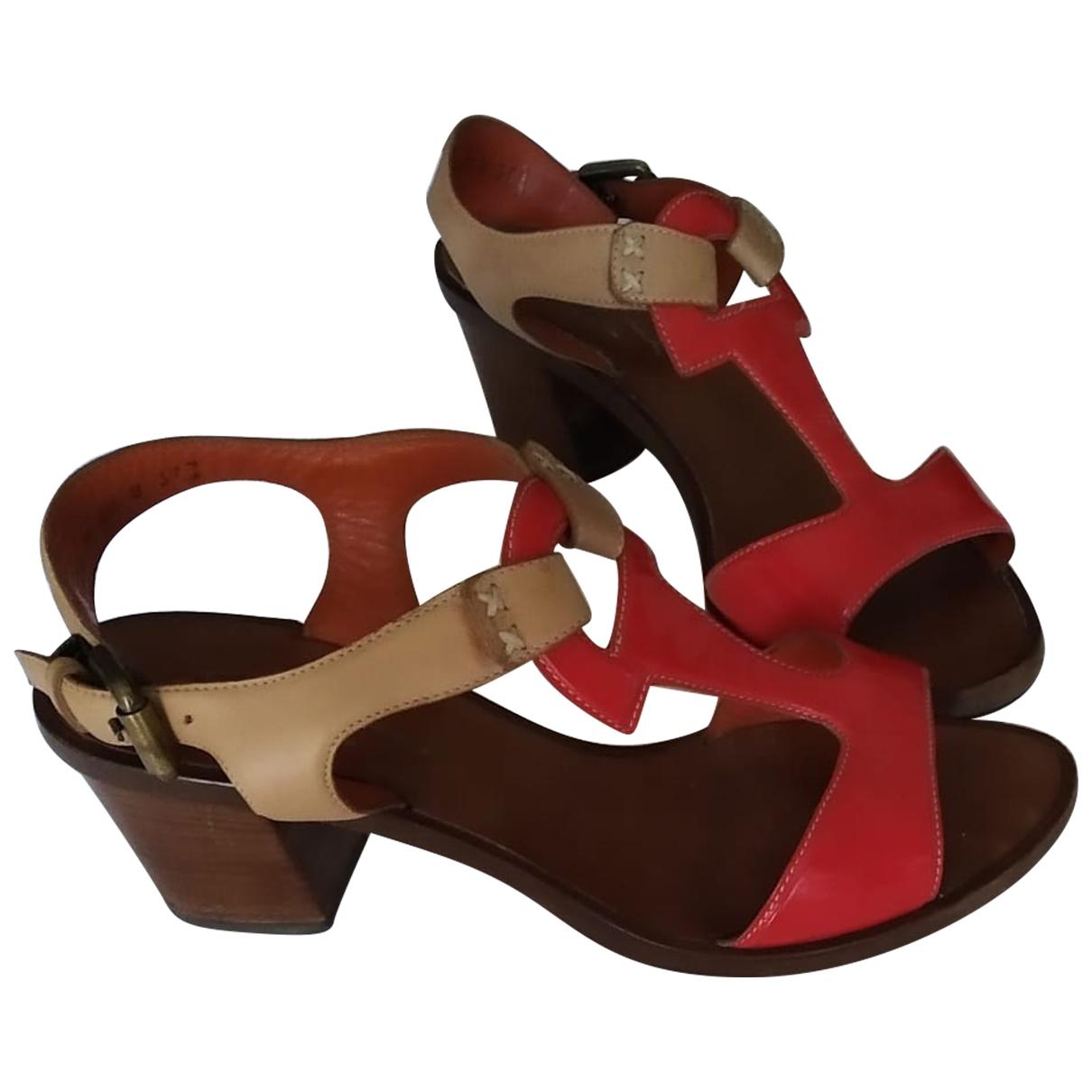 Santoni \N Sandalen in  Rot Leder