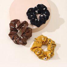 3 Stuecke Haarband mit Bluemchen Muster