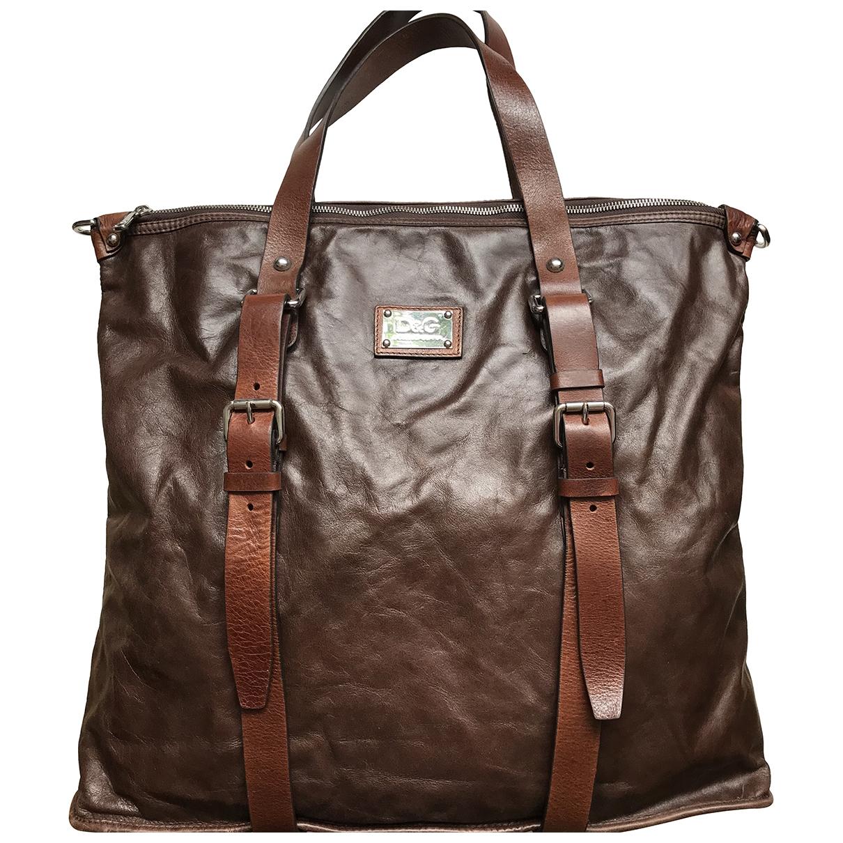 D&g \N Handtasche in  Braun Leder