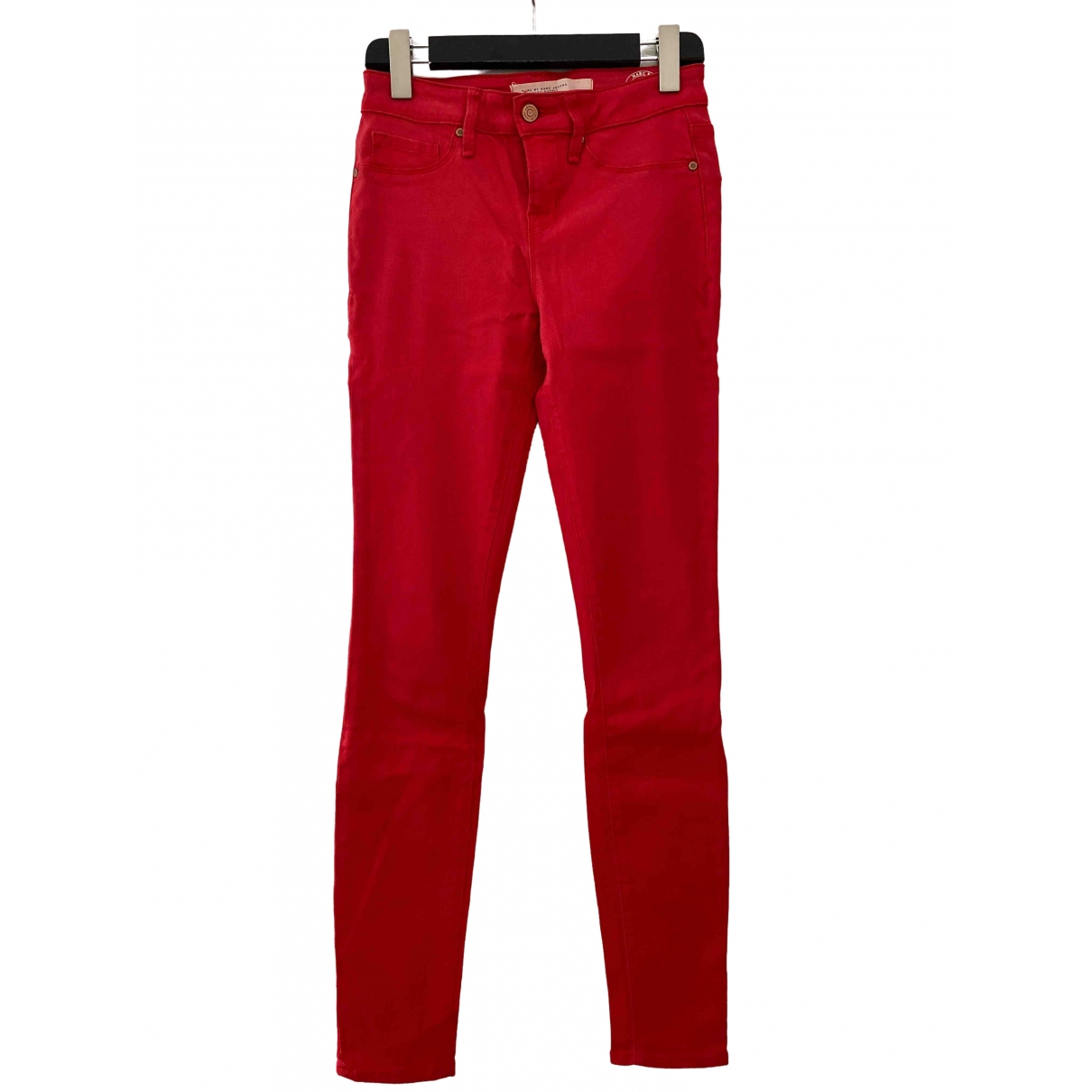 Marc By Marc Jacobs \N Red Cotton Trousers for Women 36 FR