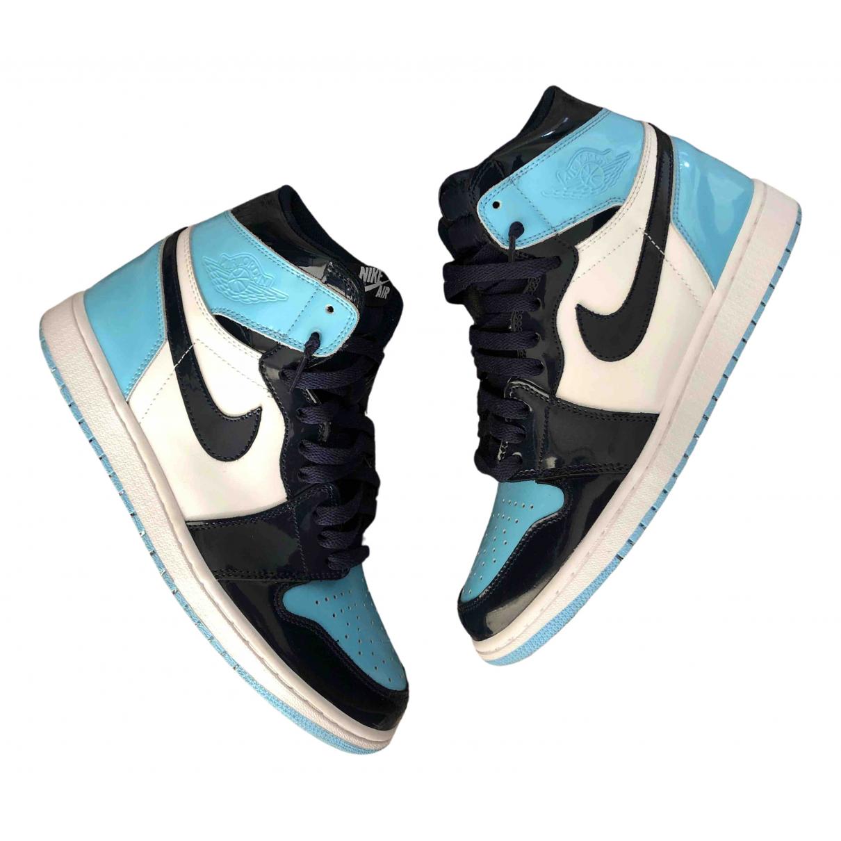 Jordan - Baskets Air Jordan 1  pour homme en cuir - bleu