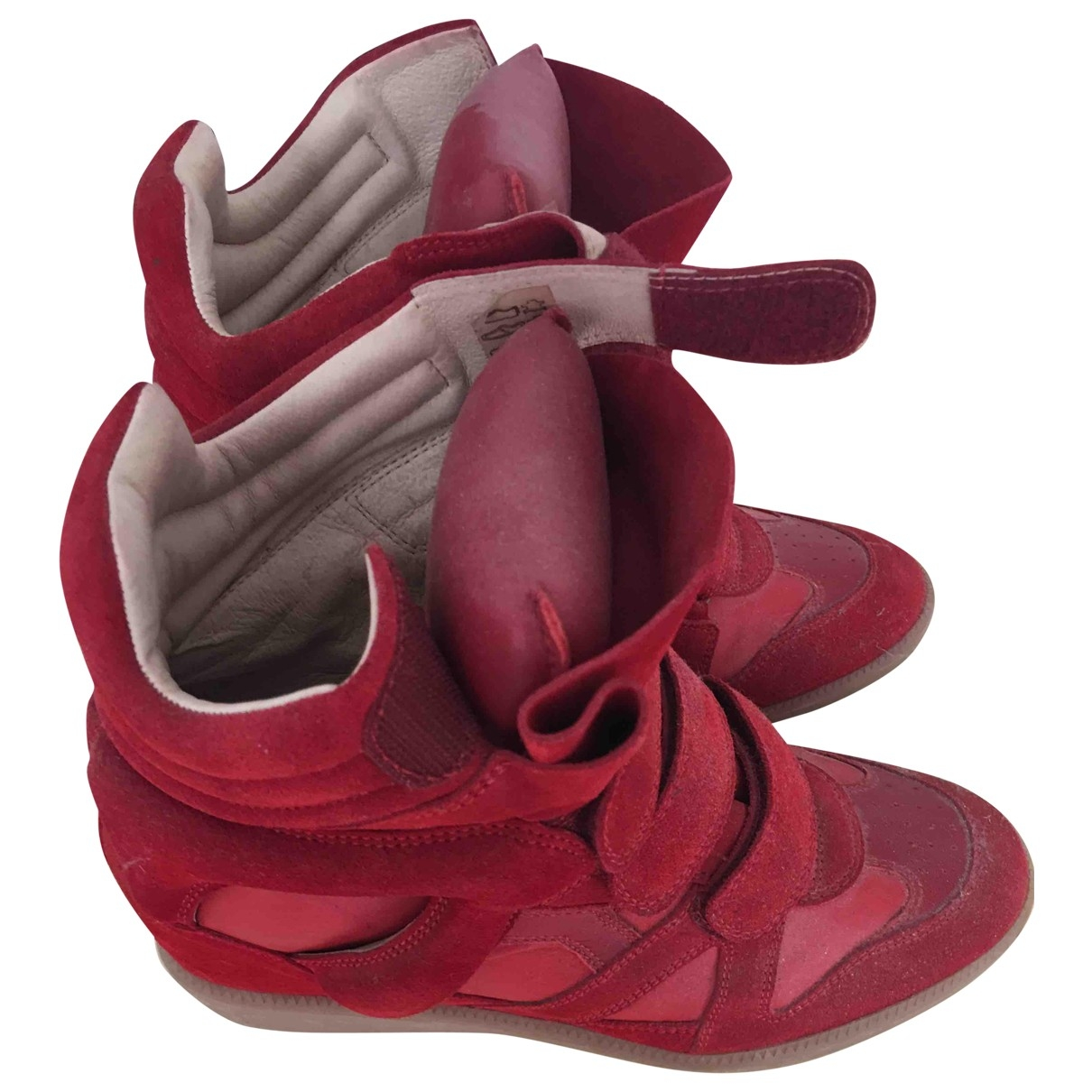Isabel Marant Beckett Red Suede Trainers for Women 40 EU