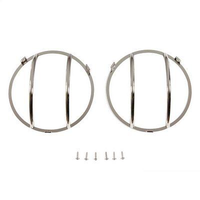 Smittybilt Euro Headlight Covers, Stainless - 5460