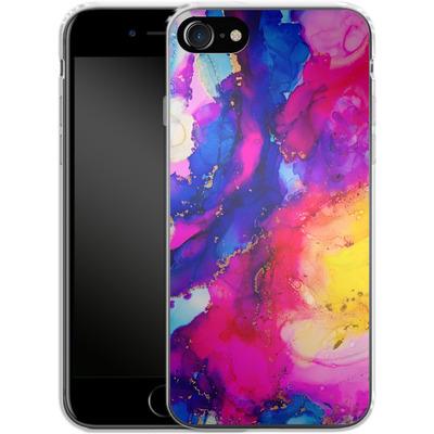 Apple iPhone 8 Silikon Handyhuelle - Cosmic Swirl I von Stella Lightheart